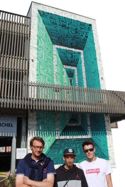 Fresque Parking Saint Michel Epinal